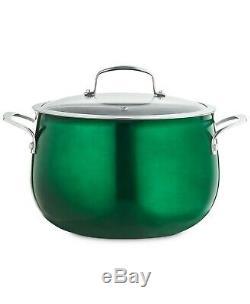 Belgique Aluminum Nonstick Cookware 11 Piece Set New Green Bell shape Pots & Pan