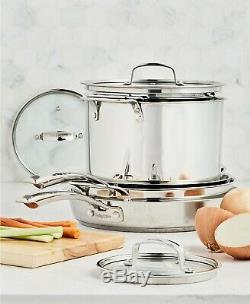 Belgique Stainless Steel Cookware 10 Piece Set New Stackable Pots & Pans