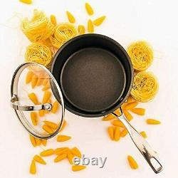 Black Nonstick Pan Set Cookware Cooking Kitchen Pans Induction & All Hobs Cooker