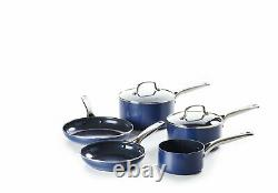 Blue Diamond 5 Piece Non Stick Ceramic Pan Set Blue