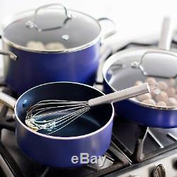 Blue Diamond Pan CC001602-001 Toxin Free Ceramic Nonstick Cookware Set, 10pc