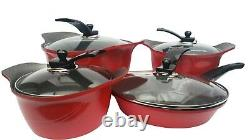 Brand New Granite cookware 4 set with a stainless steel glass Lid and Handle