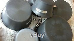 CALPHALON Nonstick HARD ANODIZED ALUMINUM 11-Piece Gray COOKWARE Set & Lids
