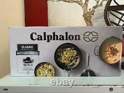 Calphalon CLASSIC 10pc Non-Stick Pan Set Stainless Steel Handles 1943338 New