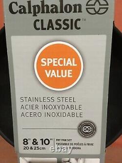 Calphalon Classic 8 & 10 Nonstick Stainless Steel Fry Pan Set