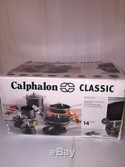 Calphalon Classic Nonstick 14-piece Cookware Pots & Pans Set 1943336 NEW