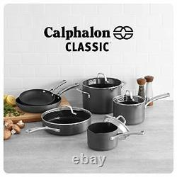 Calphalon Classic Pots And Pans Set 10 Piece Nonstick Cookware Set Grey
