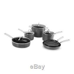 Calphalon Classic Pots And Pans Set, 10-Piece Nonstick Cookware Set, Grey 10-pc