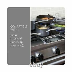 Calphalon Kitchen Classic Pots Pans 10 Piece Cookware Set Nonstick Grey 1943338