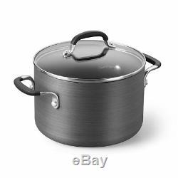 Calphalon Nonstick Cookware Frying Pan Pots Set, harder stainless steel 10 Piece