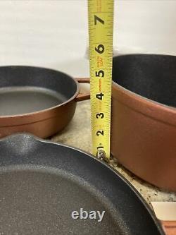 Cast-Iron Elite Nonstick Cook's Essentials 7pc Cookware Set Stock Pot Pan Copper