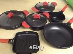 Castey Induction 9 Piece Cookware Set Ex Demonstration with FREE GIFT