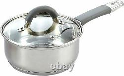 Chef Non Stick Cookware Induction Oven Safe Stainless Steel Cooking Pots 12 Pcs