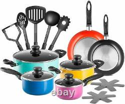 Chefs Star 17 Piece Professional Grade Aluminum Non-Stick Pots & Pans Set New
