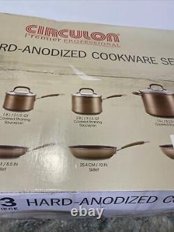 Circulon Bronze Premier Professional 13-piece Hard Anodized Cookware Set