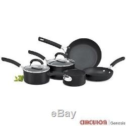 Circulon Origins Hard Anodised 5 Piece Cookware Set Pan Non Stick Saucepan Steel