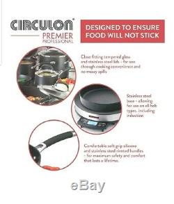 Circulon Premier Professional 5 Piece Hard Anodized Aluminium Saucepan Pan Set