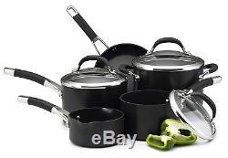 Circulon Premier Professional Hard Anodised Cookware Set Black 5 Piece Pots Pans