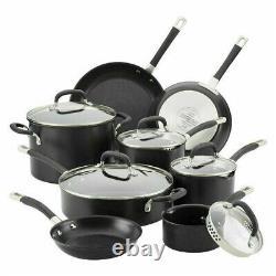 Circulon Premier Professional Hard Anodised Nonstick Cookware Set Black 13 Piece