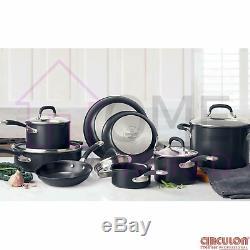 Circulon Premier Professional Hard Anodized 13 Piece Non Stick Pan Set Black