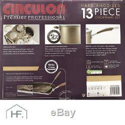 Circulon Premier Professional Hard Anodized 13 Piece Non Stick Pan Set in Bronze