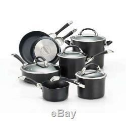 Circulon Symmetry Hard Anodized Nonstick 11-Piece Cookware Set, Black 87376