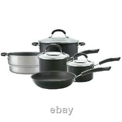 Circulon Total Hard Anodized, Non-Stick Saucepan and Frying Pan Set, Set of 5