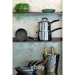 Circulon Total Stainless Steel 3 Piece Saucepan Set, Dishwasher Safe, 16/18/20cm