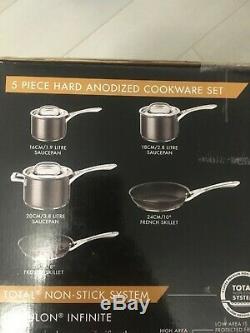 Circulon infinite 5 piece hard anodized cookware set non stick