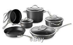 Contemporary Nonstick 11-Piece Fry Pan Saucepan Saute Stock Pot Lid Cookware Set