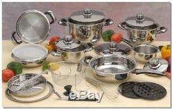 Cookware 22pc Surgical Stainless Steel Set of pots and pans Set de ollas