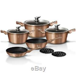 Cookware Set 10-pcs Pot Pan Saucepan Induction Hob GB Berlinger Haus Bh-1220n
