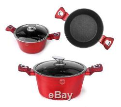 Cookware Set 15-pcs Pot Pan Saucepan Induction Hob GB Berlinger Haus Bh-1226n