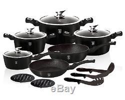Cookware Set 15-pcs Pot Pan Saucepan Induction Hob GB Berlinger Haus Bh-1474n