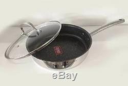Cookware Set 18/10 9-pcs Pot Frying Pan Induction Gas Hob GB Klausberg Kb-7215