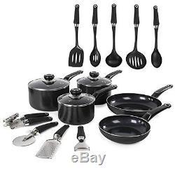 Cookware Set Aluminum Non-Stick Kitchen Pots and Pans Set & Utensils (14-Piece)
