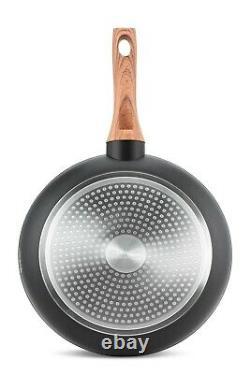 Cookware Set Induction Non Stick Marble Granite 15 Piece Pots Pans Lids Saucepan