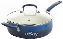 Cookware Set Non-Stick Coating 10 Piece Cobalt Ceramic Pots And Pans Set