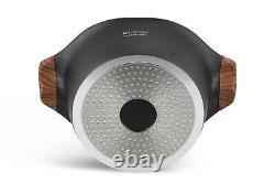 Cookware Set Non Stick Marble Granite 15 Piece Pots Pans Lids Saucepan Induction