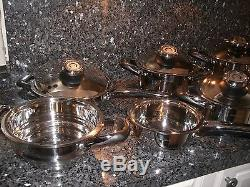 Cookware Set Pan SWISS 12pc Retail Healthy Lifetime Warranty Steamer Amc Design