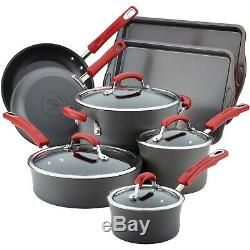 Cookware Set Rachael Ray Hard Anodized Nonstick Pots And Pans Dishwasher Safe
