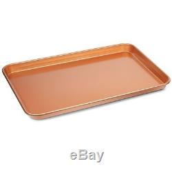 Copper Chef 12 Pcs Non-stick Bakeware Set Cookie Sheet Pan Ramekin Kitchen Bake