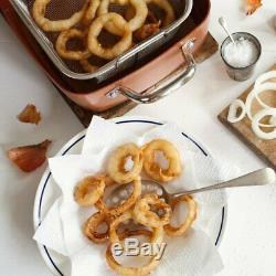 Copper Chef 5 Piece Deep 9.5-Inch Square Fry Pan Set Ceramic-Tech Non-Stick GIFT