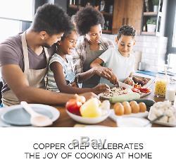 Copper Chef Cookware 9-Pc. Round Pan Set Aluminum Steel With Ceramic Non-Stick