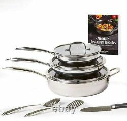 Copper Chef Titan Pan 10-Piece Cookware Set Non-Stick Frying Pans with Recipe Book