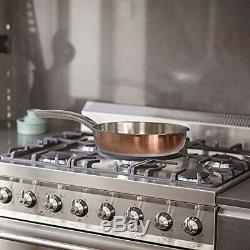 Copper Stainless Steel Cooking Pots Set 8-Piece Rustproof Pans and Oven-Safe FDA