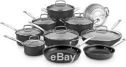 Cuisinart 17 Piece Aluminum Non-Stick Cookware Set Kitchen Pots and Pans