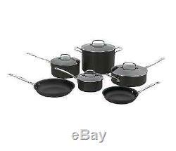 Cuisinart Chef's Classic 10-Piece Cookware Set Nonstick Pots Pans with Lids NEW