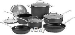 Cuisinart Chefs Classic Non-Stick Hard Anodized 11-Piece Cookware Set Pots Pans