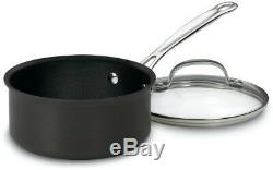Cuisinart Chefs Cookware Set Pot Pan Kitchen Nonstick 11 Piece Hard Anodized
